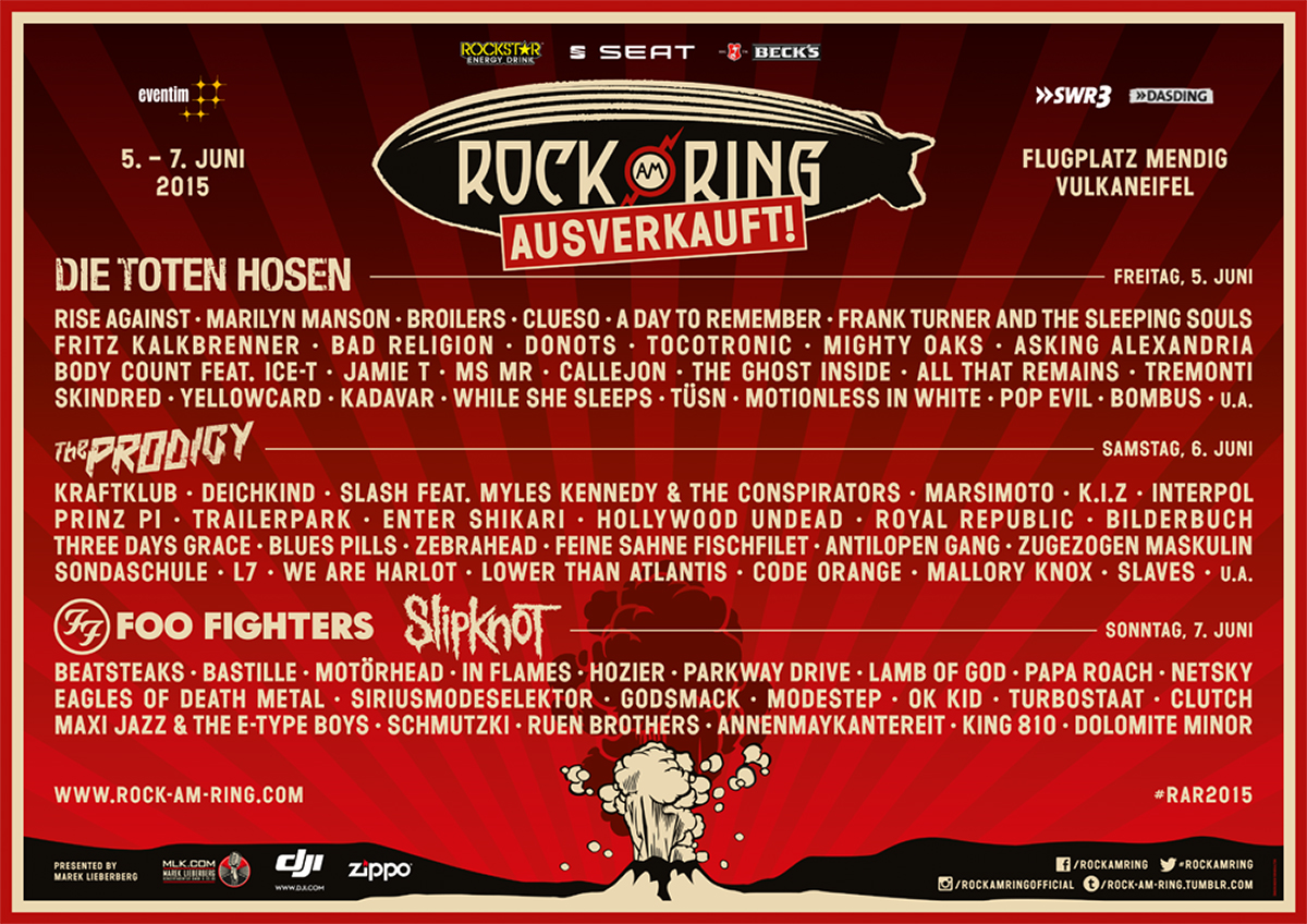 Rock am Ring Line Up 2015