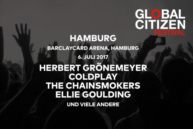 Global Citizen Festival 2017 / Barclaycard Arena Hamburg / Coldplay / Herbert Grönemeyer / The Chainsmokers