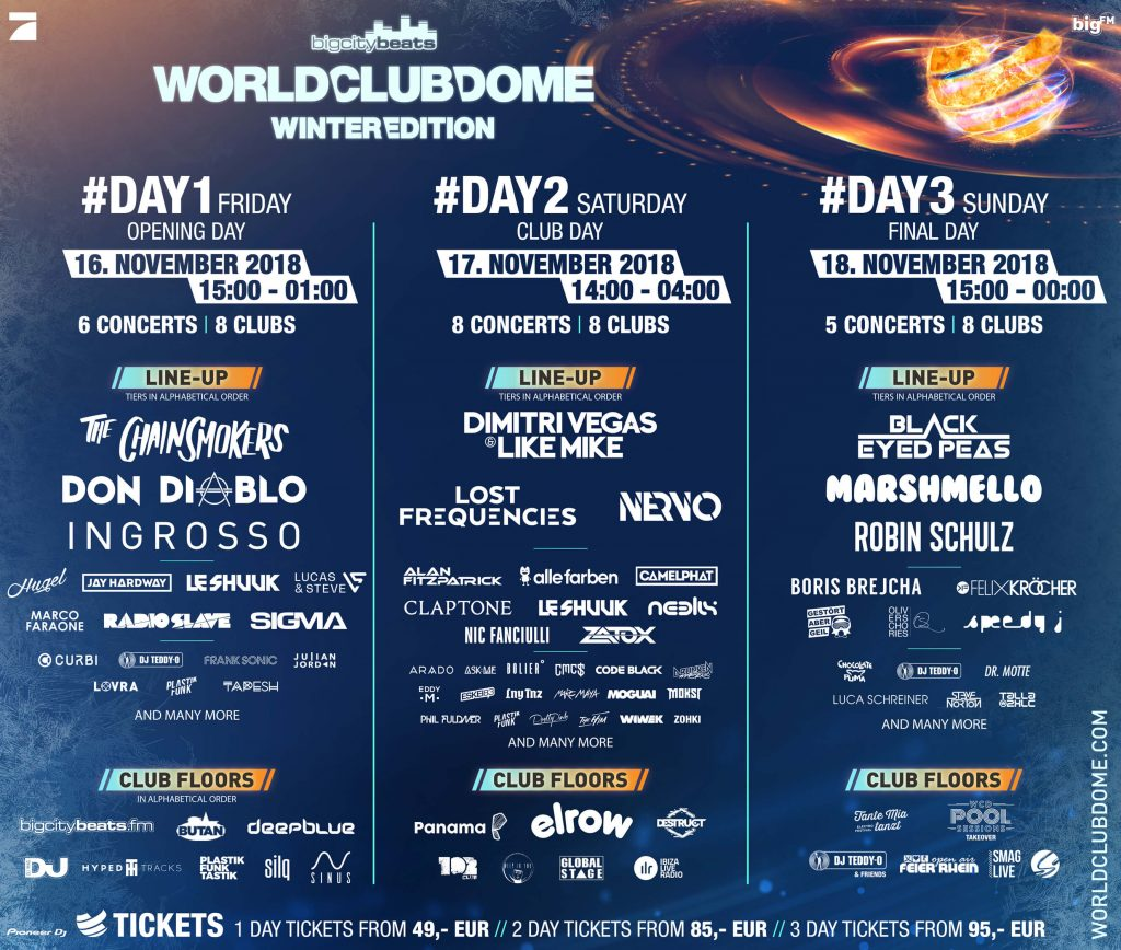 World Club Dome 2019 Running order